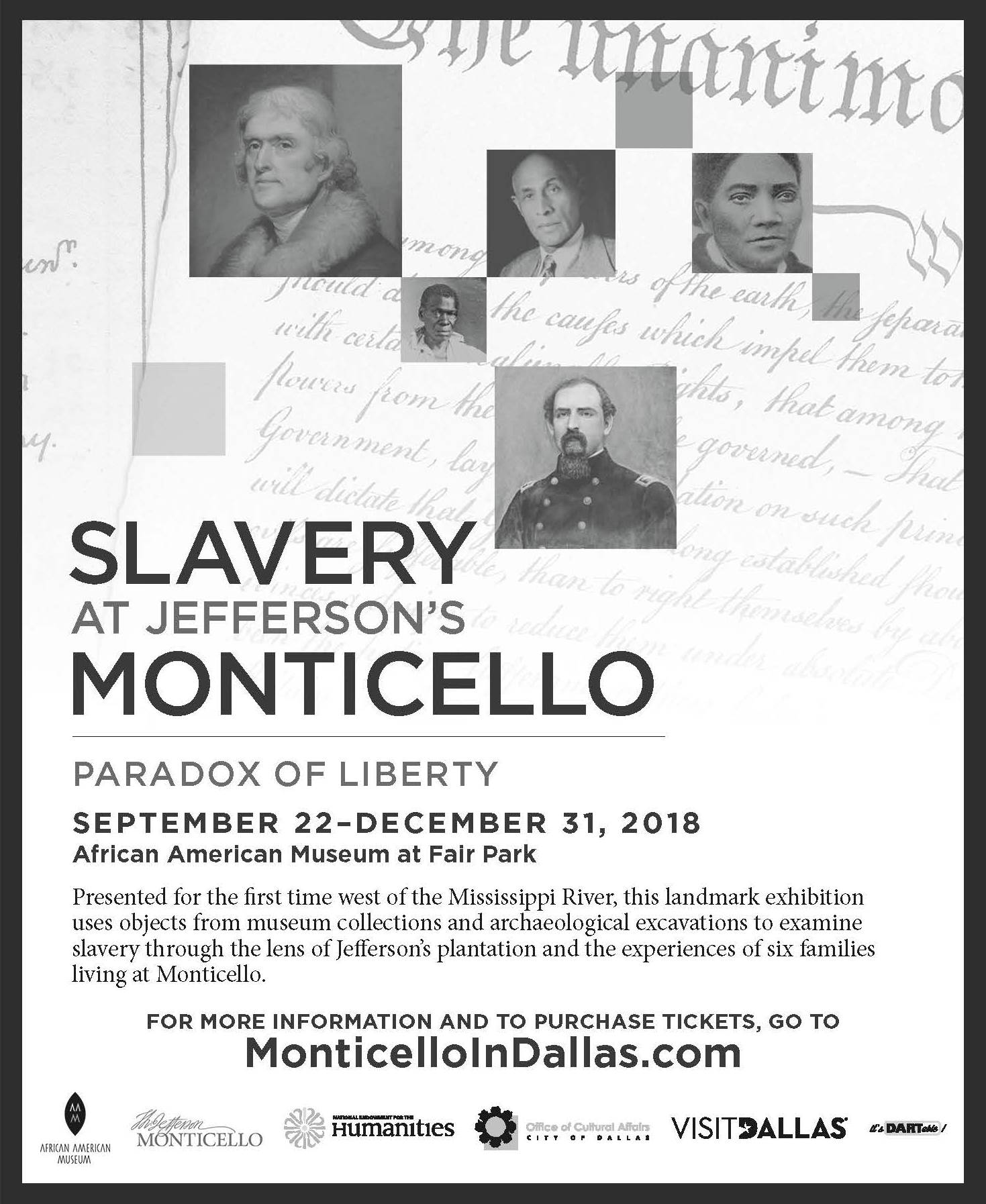 Slavery at Jefferson's Monticello: September 22-December 31, 2018