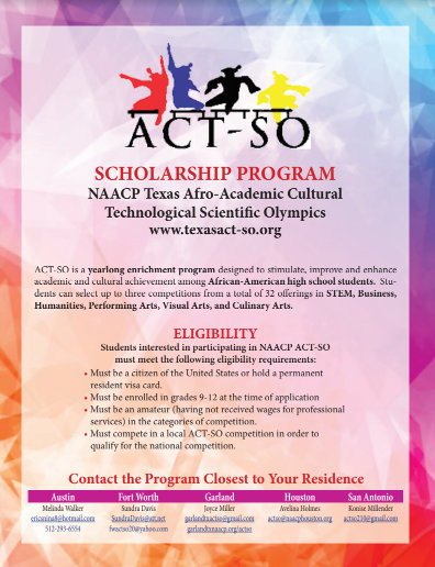 ACT-SO Scholarship Program Information