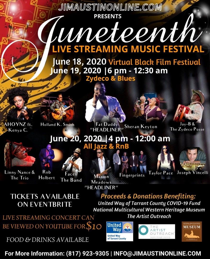 Juneteenth Music Festival: June 18-20, 2020