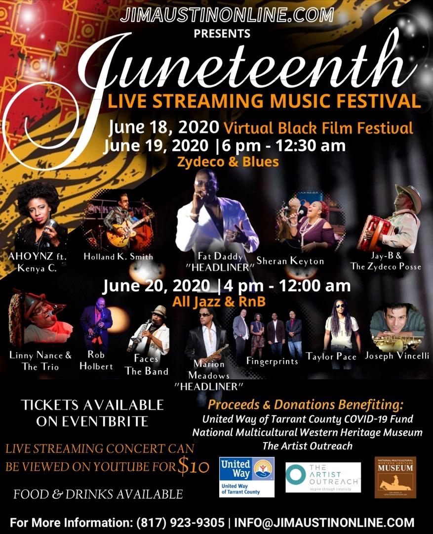 Juneteenth Music Festival: June 18-20, 2020