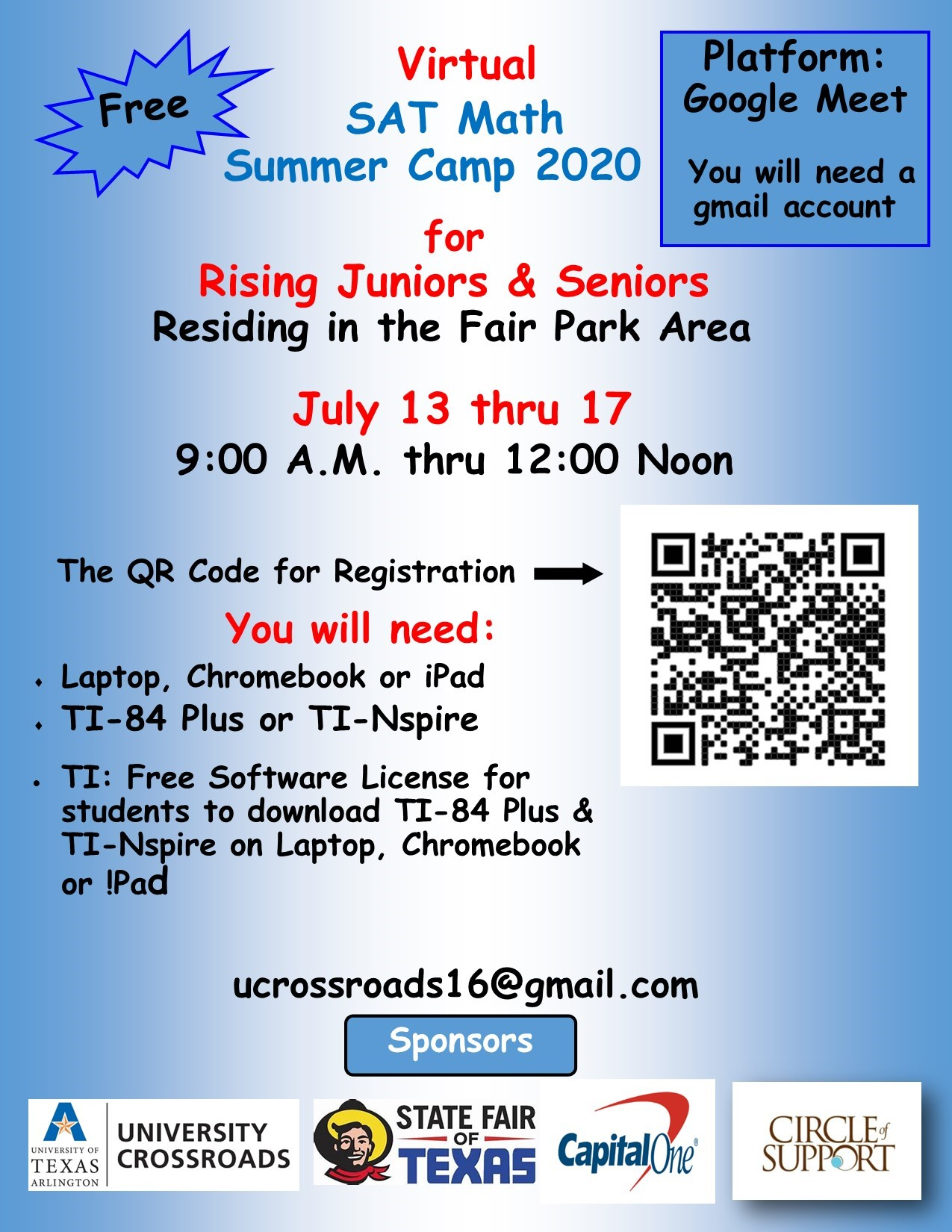 Virtual SAT Math Summer Camp: July 13-17