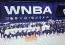 WNBA players kneeling