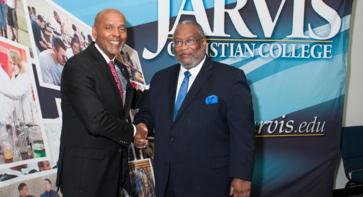 Roland Parish and Jarvis Christian College President Lester Newman