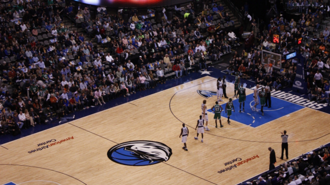 Stock Footage of a Previous Dallas Mavericks Game